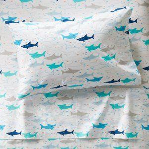 Crate & Kids Organic Shark Sheets - Twin Set